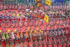自行车兆销售额 库存照片