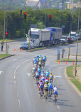自行车公路赛 免版税库存照片