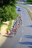 自行车公路赛 免版税库存图片