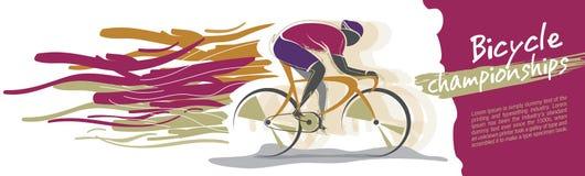 自行车冠军传染媒介 库存图片