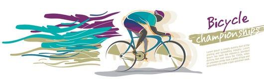 自行车冠军传染媒介 免版税图库摄影