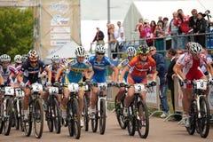 自行车冠军国家(地区)交叉欧洲山 免版税库存图片
