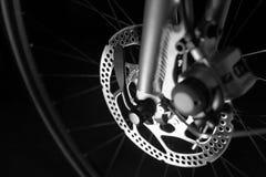 自行车制动盘轮胎 免版税图库摄影