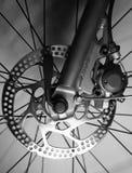 自行车刹车详细资料盘前面轮胎 免版税库存照片