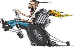 自行车前轮离地平衡特技椅子 免版税库存图片