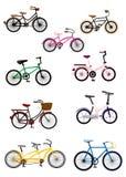 自行车动画片图标 免版税库存照片