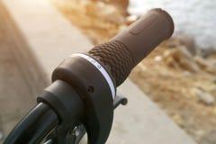 自行车变速杆 免版税库存照片