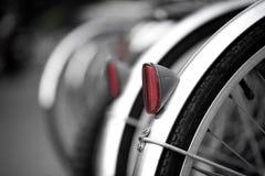 自行车后方反射器轮子 免版税库存照片