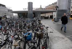 自行车周期立场 免版税库存图片