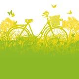 自行车和自行车篮子 库存图片