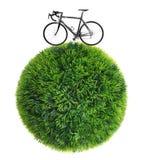 自行车和草范围 库存例证