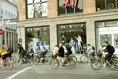 自行车哥本哈根 免版税图库摄影