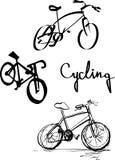 自行车商标集合 库存例证