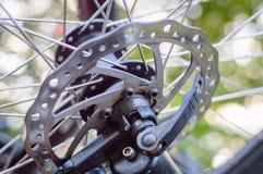 自行车圆盘制动器电动子 免版税图库摄影