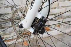 自行车圆盘制动器 免版税库存图片