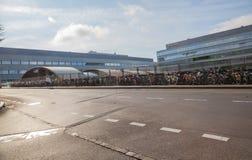 自行车在伯尔尼,瑞士 库存图片