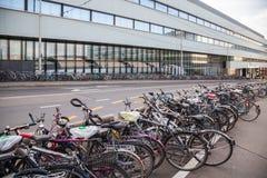 自行车在伯尔尼,瑞士 库存照片