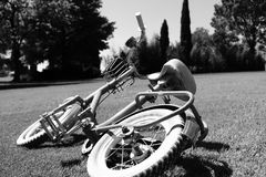 自行车在公园 库存照片