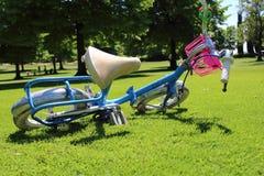 自行车在公园 库存图片
