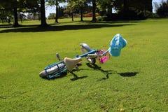 自行车在公园 免版税图库摄影