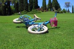 自行车在公园 图库摄影