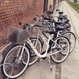 自行车在哥本哈根 免版税图库摄影