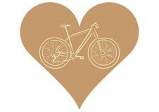 自行车在心脏 免版税库存图片