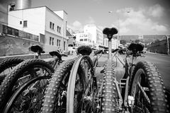 自行车在拉巴斯,玻利维亚 图库摄影