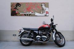 自行车在街道停放了在科尔马,法国 库存照片