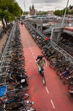 自行车在阿姆斯特丹 免版税库存照片