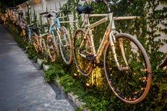 自行车墙壁 免版税图库摄影