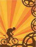 自行车山墙纸 免版税库存照片