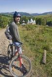 自行车山旅行 免版税库存照片
