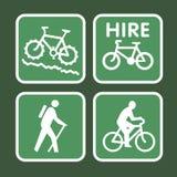 自行车山符号 免版税库存照片