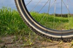 自行车山轮子 免版税图库摄影
