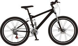 自行车山 免版税图库摄影