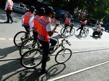 自行车巡逻 库存照片