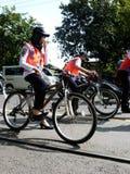 自行车巡逻 免版税库存照片