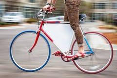 自行车广告 免版税库存图片