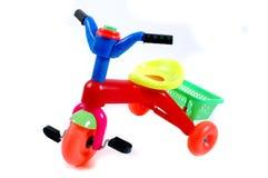 自行车开玩笑塑料玩具 图库摄影