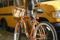 自行车或公共汽车 免版税库存图片