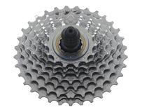 自行车扣练齿轮 库存图片