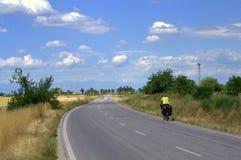 自行车旅客 库存图片