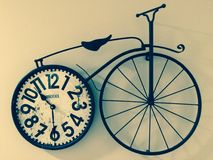 自行车时钟 免版税库存图片