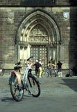 自行车是让发现瞄准 免版税库存图片