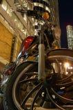 自行车晚上 免版税库存照片