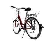自行车查出在白色 免版税库存照片