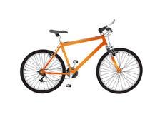 自行车查出的山 免版税库存照片