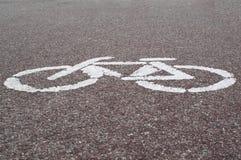 自行车标志 免版税图库摄影