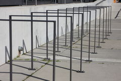 自行车栏杆 免版税图库摄影
